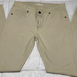 Carbon mens skinny khaki pants 30/32